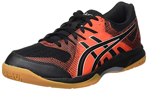 Asics Gel-Rocket 9, Sneaker Hombre, Black/Fiery Red, 44 EU