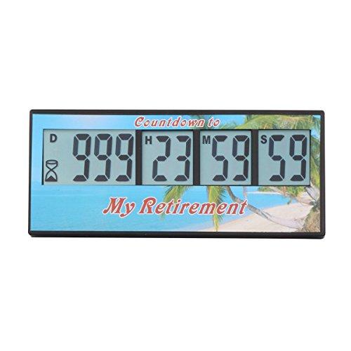 Aimilar Digitaler Countdown-Tage-Timer, 999 Tage Countdown-tTmer für Labor, Küche, Ruhestand, Hochzeit, als Kinder-Geschenk Ruhestand