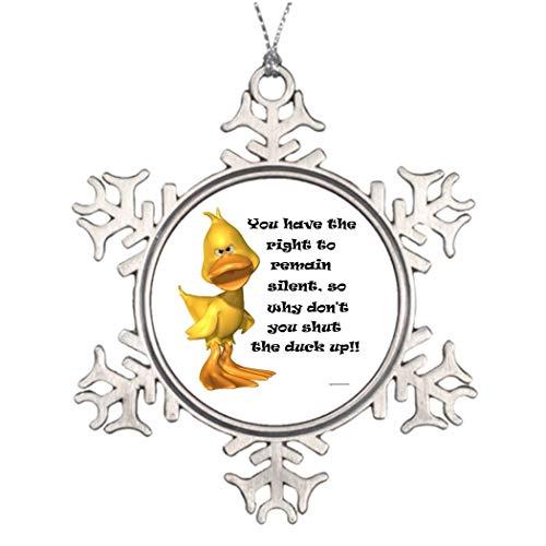 qidushop Weihnachtsdekoration Schneeflocke Ornamente unverschämte Ente Bilderrahmen Weihnachtsbaum hängend Geschenk