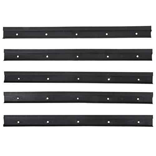 5 Halterungsschienen 49cm für Stapelboxen Wandhalterung schwarz