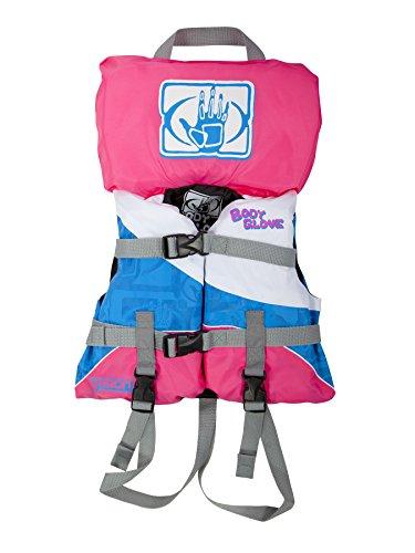 Body Glove Vision U.S. Coast Guard Approved Type II Nylon PFD Life Jacket, White/Pink, Infant Less Than 30-Pound