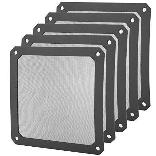 Nylon Eficazmente fácil de instalar Funda duradera Cubierta de la caja magnética a prueba de polvo Marco de malla de computadora Enfriador Filtros de ventilador Filtro de polvo para PC