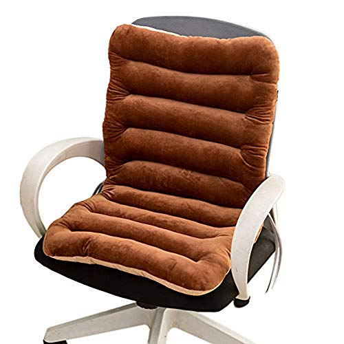 sunshinelh Cojín de respaldo alto para silla de jardín de 8 cm de grosor, cojín de respaldo alto, cojín de silla con respaldo y almohadilla de asiento para jardín, oficina, sala de estar (100 x 45 cm)