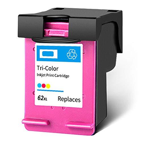 SXCD Cartucho de Tinta 62xl para HP, reemplazo de Alto Rendimiento para OfficeJet 200 258 5740 8040 envidia 5540 5542 5640 7640 8000 Cartuchos de Tinta de Impresora Negro 1 Tri-Color