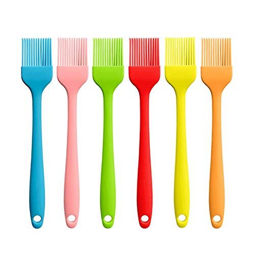 BOENTA Utensilios De Cocina De Silicona Utensilios De Cocina Silicona Cocina Pincel De Silicona Utensilios Comida Cepillo Cocinar Cepillo Random Color,6PCS Ordinary