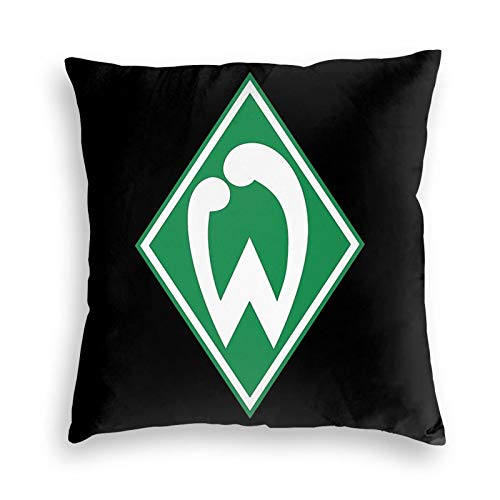 Lhgs5sv Sv Werder Bremen Fu?Ball Fussball Football Velvet Throw Pillow Covers Both Sides Sofa Square Cushion Cover Pillow Case with Zipper 18x18inch