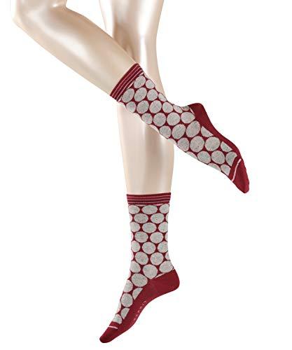 ESPRIT Damen Socken Pixeled Dots - Baumwoll-/Seidenmischung, 1 Paar, Rot (Garnet 8185), Größe: 39-42