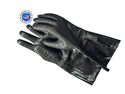 Artisan Griller BBQ Heat Resistant Insulated Smoker, Grill, Fryer, Oven, Brewing, Cooking Gloves. Great for Barbecue/Frying/Grilling - Waterproof, Fire&Oil Resistant Neoprene-1 Pair
