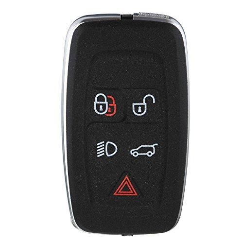 YONGYAO 5 Boutons Noir Case Shell Distant Porte-Clé pour La Gamme Land Rover/Sport 2010-2012