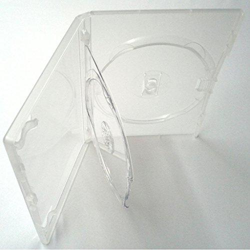 Four Square Media Agi Amaray - Caja para DVD triple (doble bandeja, lomo de 14 mm, 1 unidad)