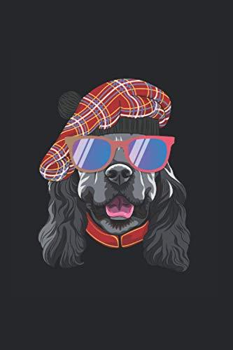 Notizbuch: Englischer Cocker Spaniel Hund mit Sonnenbrille Notizbuch DIN A5 120 Seiten für Notizen Zeichnungen Formeln | Organizer Schreibheft Planer Tagebuch