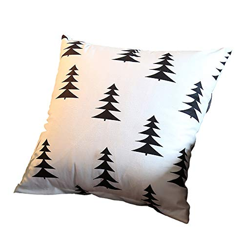 PICTURESQUE Pillow Case 45x45cm White Tree Print Cushion Cover Cushion Cover Lumbar Pillow Decoration WITHOUT Pillow