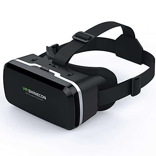3D VR Gafas De Realidad Virtual, Gafas De Realidad Virtual HD VR Glasses Visión Panorámico 360 Grado Película 3D Juego Immersivo Cómoda Distancia Ajustable Para Teléfonos De 4,7 A 6,5 Pulgadas