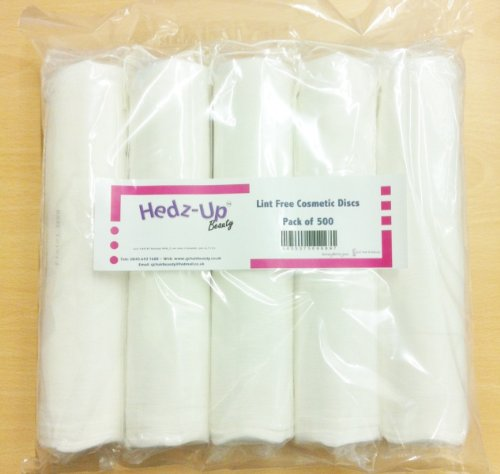 Hedz-UpTM Cosmetic Face & Nail Lint Free Cotton Wool Discs/ Pads x 500 by Hedz-Up