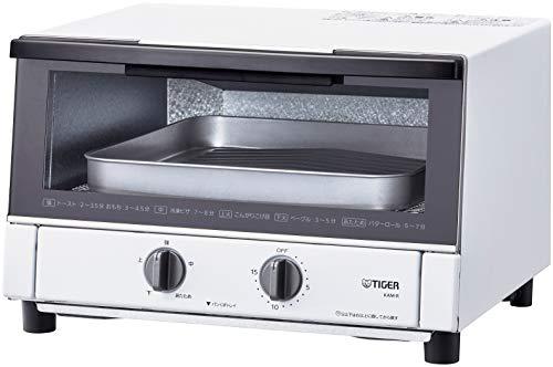 タイガー魔法瓶(TIGER) オーブントースター トリプルヒーター 火力5段階切替 マットホワイト KAM-R130WM