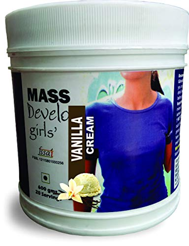 DEVELO MASS WEIGHT GAINER PROTEIN POWDER SUPPLEMENT FOR GIRLS WOMEN 600G [VANILLA CREAM]