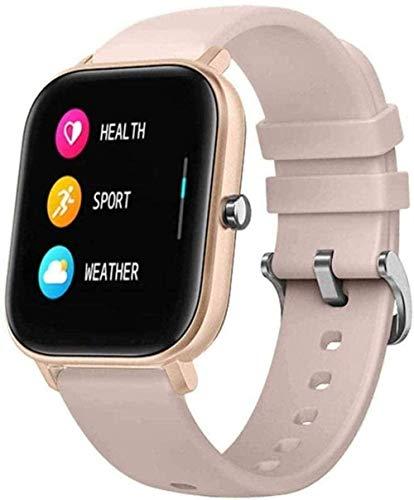 Reloj inteligente 1 4 pulgadas pantalla táctil completa Fitness Tracker para hombres y mujeres Recordatorio inteligente Monitoreo Bluetooth reloj de lujo negro dorado