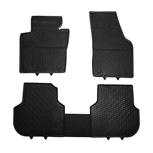 Für VW Jetta 2011-2020 Automatten Fußmatten Gummi Schwarz