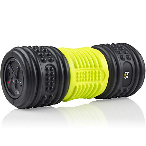 HealthSmart Foam Roller for Exercise and Physical Therapy with Four Speed Vibrations and Deep Tissue...