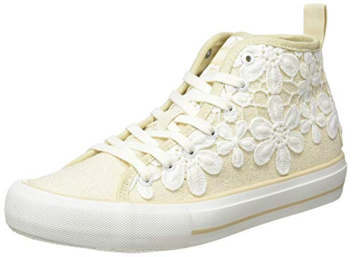 Desigual Damen Shoes BETA Crochet Hohe Sneaker, Beige (Ecru 9020), 36 EU