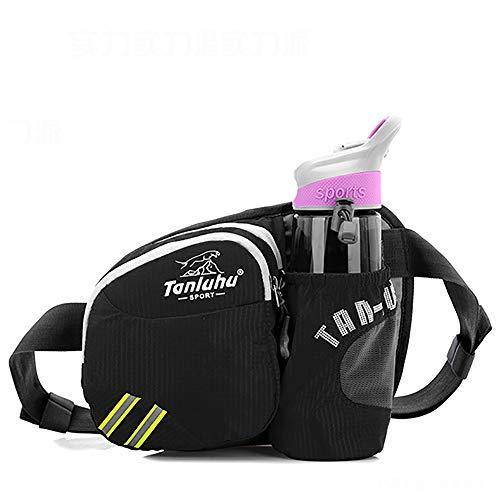 QKa Wasserdichte Nylon-Hüfttasche, Outdoor-Sportarten Wandern Laufsporttasche Brusttasche Wasserkocher Pack für Wandern,F