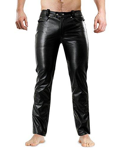 Bockle Lederjeans Lederhose Lederröhre Tight Leather Jeans 1991 Röhre, Size: W36/L36