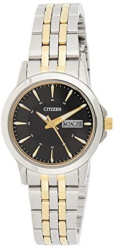 CITIZEN Damen Analog Quarz Uhr mit Edelstahl Armband EQ0608-55EE