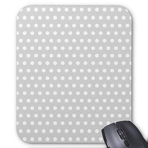 Accesorios de ordenador pulsera anti-fricción gris claro y blanco lunares patrón 18X22