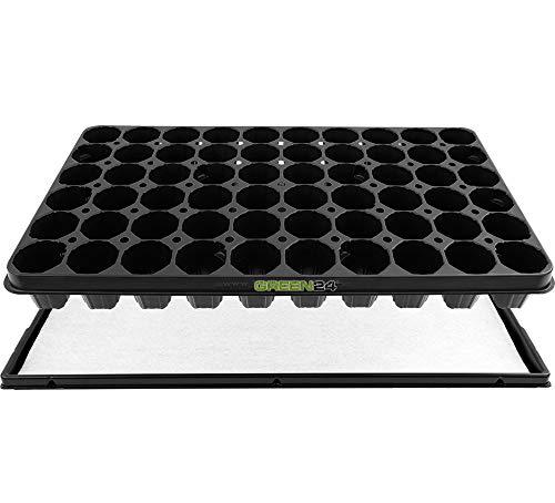 GREEN24 Anzucht-Set PRO - automatische Bewässerung. Topfplatte + Wasserwanne + Kapillarmatte