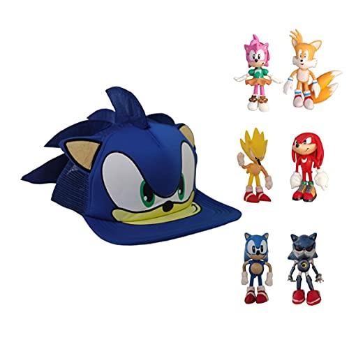 XINKO Sonic Gorra de bisbol Sonic el erizo figura de accin coleccionable juguete regalo para nios Navidad