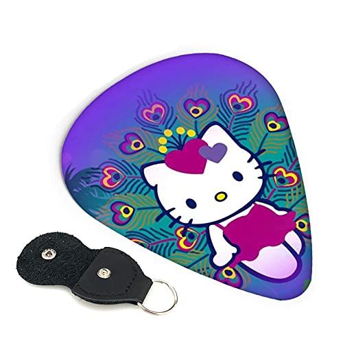 Hello Kitty - Púas para guitarra (6 unidades), diseño de anime de anime, incluye púa fina y mediana de 0,46 mm, 0,71 mm, 0,96 mm, para adultos, hombres, mujeres, adolescentes, 0,96 mm