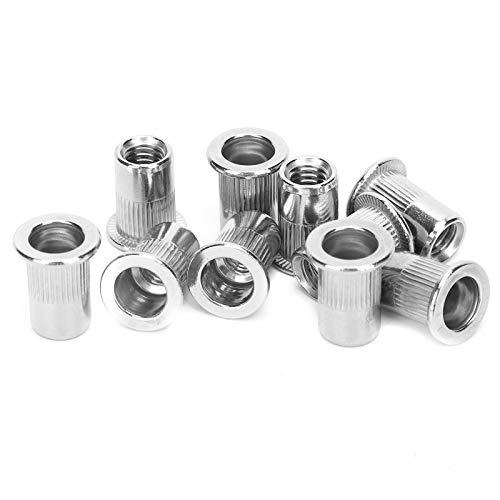 Conjunto de tuercas de remachamiento ciego electromecánico, necesidades de reemplazo hechas de brida trasera de acero inoxidable M6
