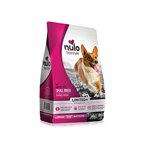 Nulo All Natural Dog Food: Freestyle Limited Plus Grain Free Puppy & Adult Small Breed Dry Dog Food - Limited Ingredient Diet for Digestive Health - Allergy Sensitive Non GMO Turkey Recipe - 4 lb Bag