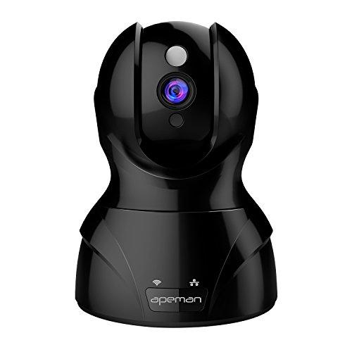 Apeman WLAN Kamera 1080p Überwachungskamera Wireless IP Kamera, Smart Home mit Nachtsicht, Bewegungsalarm, Auto-Kreuzfahrt, 2 Wege Audio, Haus Monitor Baby Monitor, App für Smartphone/PC