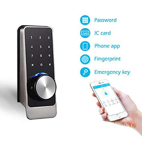 Yaobuyao Apartment Key-Card-Passwort-Sperre/Wifiapp Bluetooth Sperren Intelligente Türschließsystem Anwesenheits Virtuellen Passwort Entsperren Funktion Entstörungssicherheitsalarm Fernentriegelung