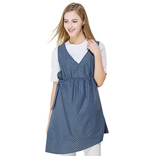 ZCVB Tops Antirradiación Vestidos De Maternidad Blusa con Escudo Electromagnético De Fibra Plateada De 360 ° Ropa De Protección Delantal Mujer 4 Temporadas,XL