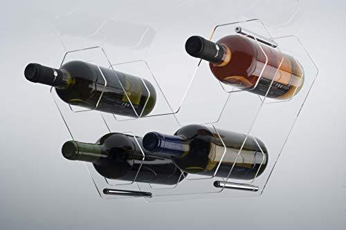 Agplex - Botellero Estante de Vino de Plexiglass