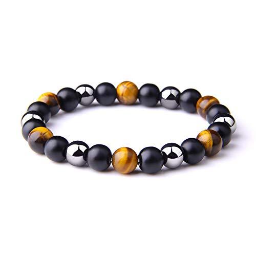 Natürliche Tiger Eye Obsidian Red Iron Bead Armband Gesundheit Balance-13_10mm