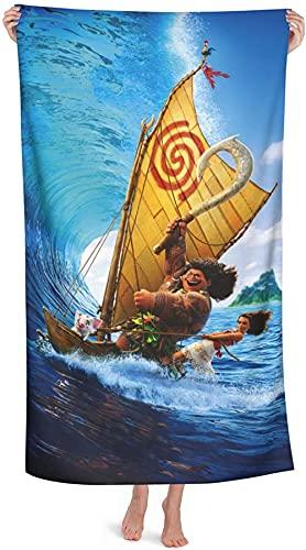 Moana - Toalla de playa para niños, diseño de Moana de Disney, toalla de baño, unisex, absorbente, para playa y piscina (Moana 4,90 cm x 180 cm)