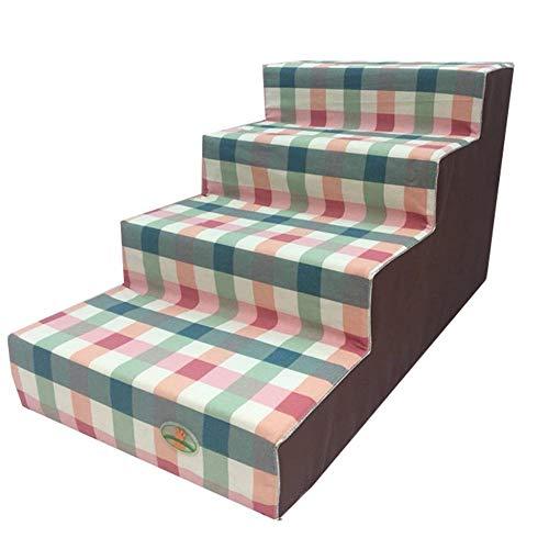 KRXLL Hund Schritte für Hochbett 40cm hoch extra breit 4 Schritt Schlafzimmer Wohnzimmer Sofa Couch (Farbe: Style-2)-Style-1