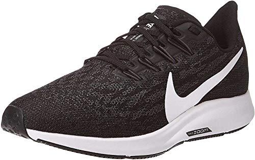Nike Air Zoom Pegasus 36, Scarpe da Corsa Donna, Nero (Black/White-Thunder Grey 004), 39 EU
