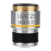 10X 185生体顕微鏡、アクロマティック対物レンズ160/0.17アルミニウム合金製+光学レンズ