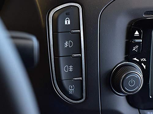 Cubierta De Acero para Alfa_Romeo GIULIETTA - 1 Pieza Interruptores de luces Marco Inox Metal Cepillado Interior Decoración Personalizados Hechos a Medida Tuning
