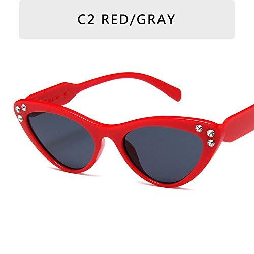 Gafas De Sol Cat Eye Gafas De Sol Retro Damas Gradiente Gafas De Sol Retro Mujer Gafas Espejo Gafas C2
