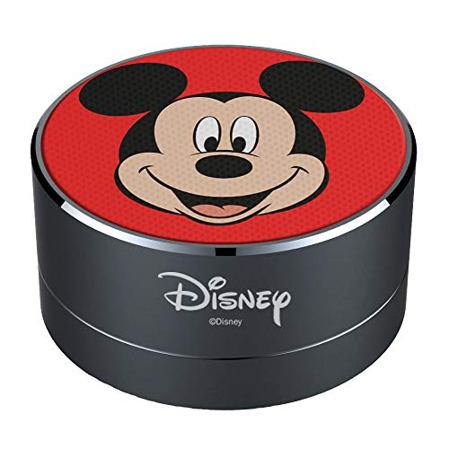 ERT GROUP Disney Mickey Mouse Bluetooth Speaker, 3W Portable Speaker, Built-in Mic & FM Radio, Micro SD Card Slot, Rechargeable Battery, Suitable for Phones, Tablets, Laptops and More