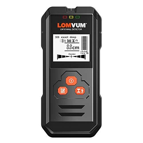 KOUPA Sensor de Pernos electrónico multifunción 5 en 1, con Indicadores, búsqueda de Centro y Advertencia de Sonido, para Pernos/Madera/Metal/detección de Cables de CA en Vivo de Alta precisión