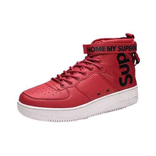 WL Scarpe Sportive Unisex, Mesh casual traspiranti comode per adulti Sneaker Teenager All'aperto Sportivo Scarpe da Professionale,red,43