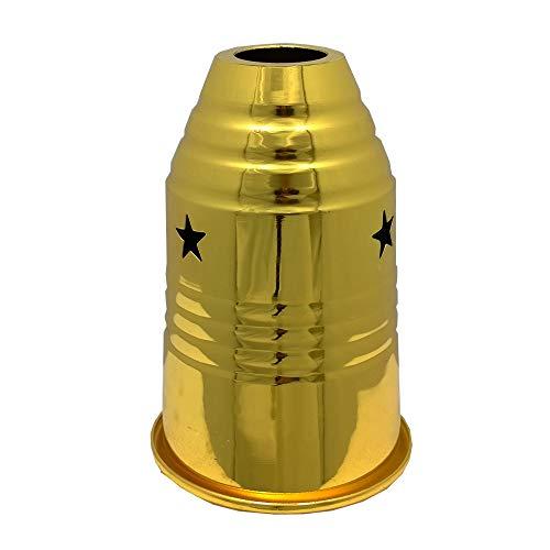 Shisha Windcover orientalischer Windschutz Gold für Wasserpfeife Stern