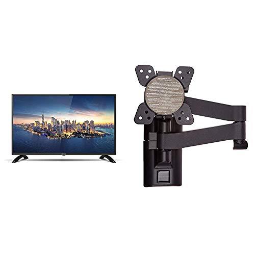 DYON Enter 32 Pro-X2 80 cm (32 Zoll) Fernseher (Triple Tuner (DVB-C/-S2/-T2)) & AmazonBasics - Bewegliche TV-Wandhalterung, für Fernseher mit Einer Bildschirmdiagonale von 12-39 Zoll / 30,5-99,1cm