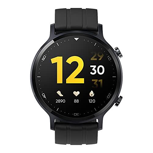 """realme Watch S. Smartwatch con Pantalla de 1.3"""" TFT-LCD. Android y Bluetooth 5.0. Resistencia IP68, Color Negro. [Versión ES/PT]"""